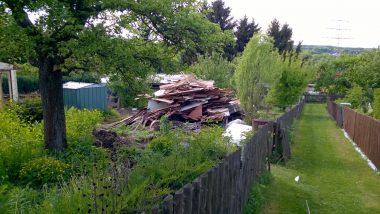 Beräumung eines leerstehenden Kleingartens